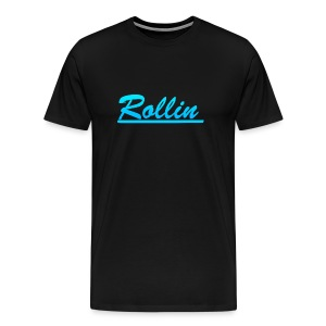 Rollin Logo Blue - Men's Premium T-Shirt
