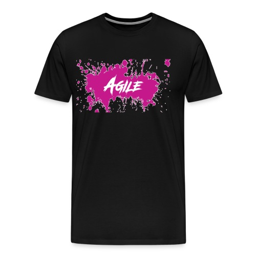 AgileNation Splatter Design - Men's Premium T-Shirt