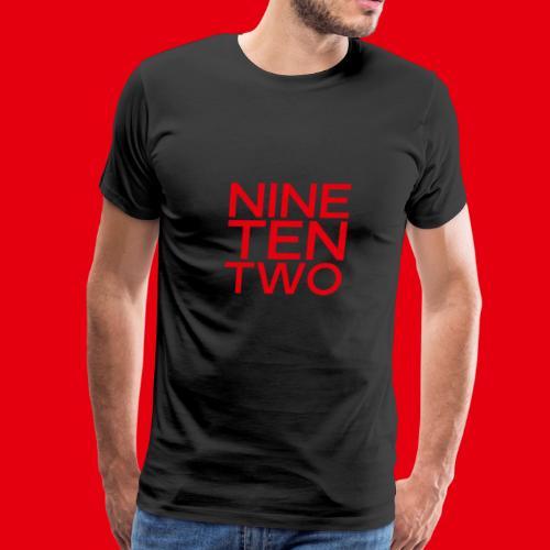 Red NineTenTwo Logo Text - Men's Premium T-Shirt