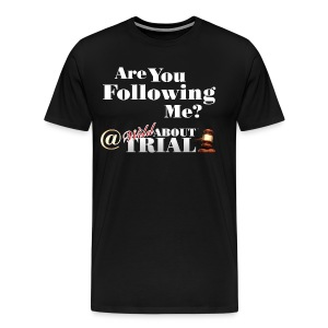 Are you following me? - Men's Premium T-Shirt