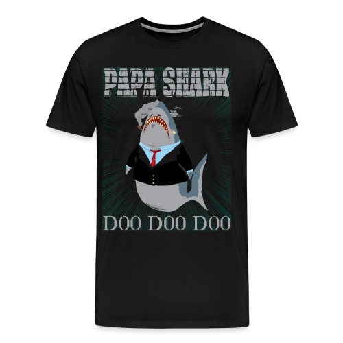 PAPA SHARK 01 Tshirt - Men's Premium T-Shirt