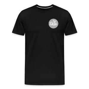 The Path Circle Logo In Gray - Men's Premium T-Shirt