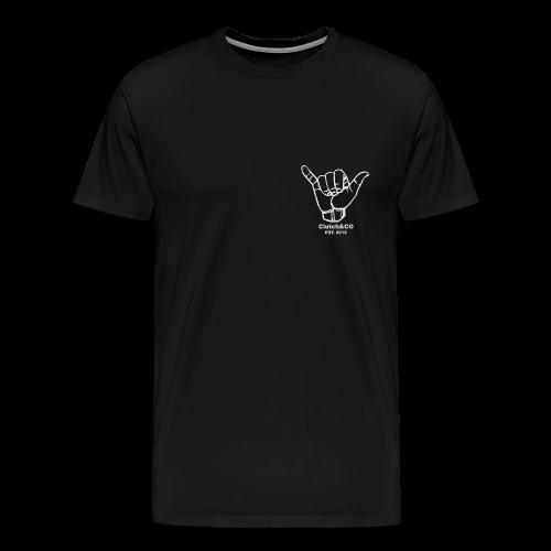 Grey Shaka for Black Clothing - Men's Premium T-Shirt