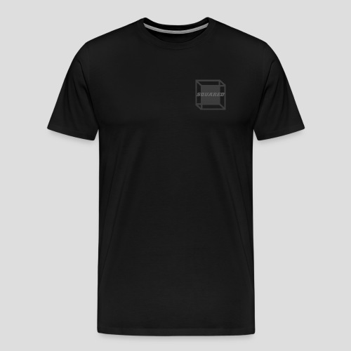 Squared Apparel Black / Gray Logo - Men's Premium T-Shirt