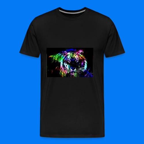 Rainbow tiger! - Men's Premium T-Shirt