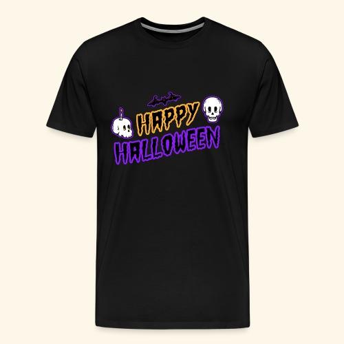 Happy Halloween Skull - Men's Premium T-Shirt