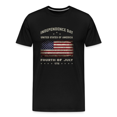happy 4th of july - funny independence day t-shirt - Men's Premium T-Shirt