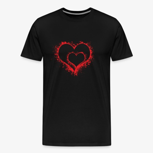 I love you more than anything. 2 Red Hearts in one - Men's Premium T-Shirt
