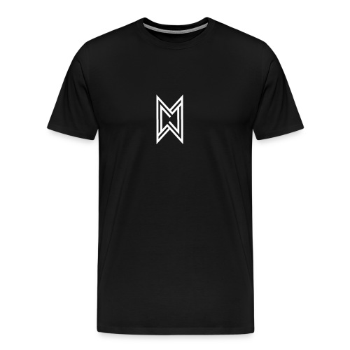 TheMWarrior White Logo Black T-Shirt - Men's Premium T-Shirt