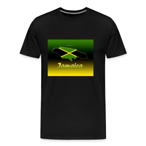Jamaica map t shirt - Men's Premium T-Shirt