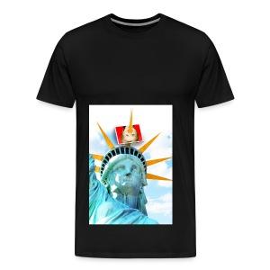 Lady Liberty Spikes Hillary - Men's Premium T-Shirt