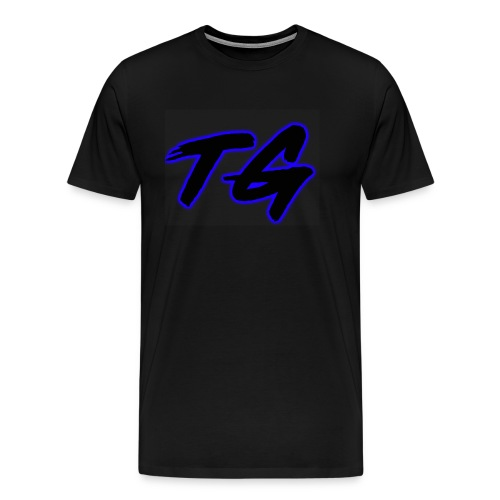 Blue and Black Lettering - Men's Premium T-Shirt