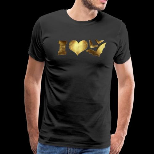 I Love Bats Golden - Men's Premium T-Shirt
