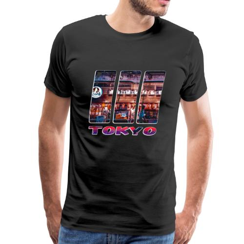 Tokyo Japan Nightlife Purple - Men's Premium T-Shirt