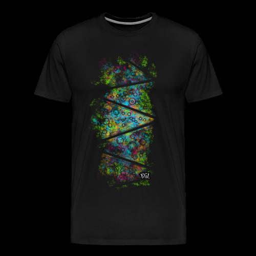 Colorful lines and circles - Men's Premium T-Shirt