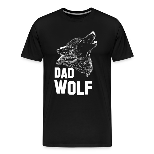 Dad Wolf Father's Day Gift T-shirt - Men's Premium T-Shirt