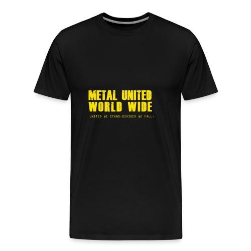 Metal United World Wide (yellow) - Men's Premium T-Shirt