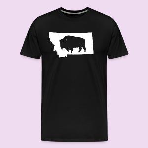 Bison Montana (White) - Men's Premium T-Shirt
