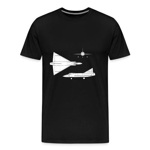 Convair YF 102 Delta Dagger 3 view - Men's Premium T-Shirt
