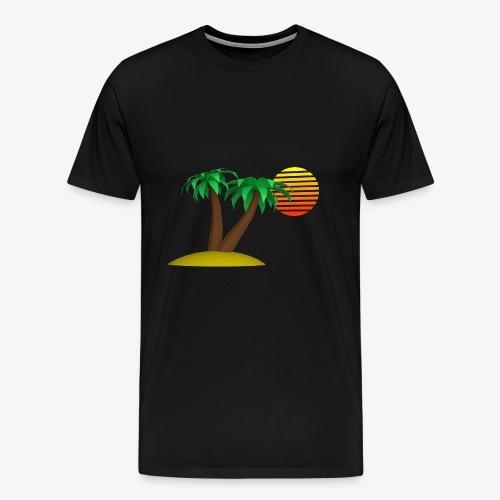 Palm Trees and Sun - Men's Premium T-Shirt