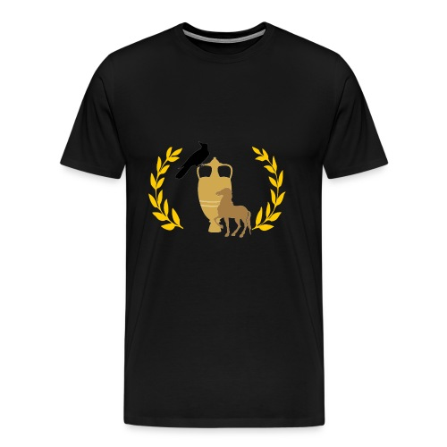 Jug, Raven, Horse - Men's Premium T-Shirt