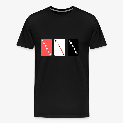 LOVE TRUMPS HATE - Playing cards style - Men's Premium T-Shirt