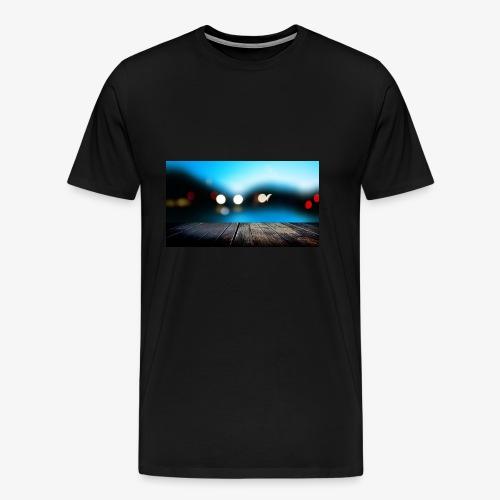Modern Art Dock painting Fine Art - Men's Premium T-Shirt