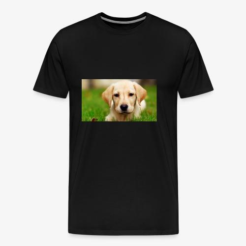 cute puppy - Men's Premium T-Shirt