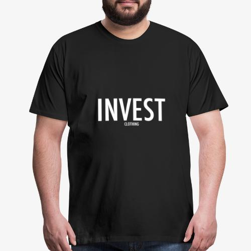 Invest Clothing White Text - Men's Premium T-Shirt