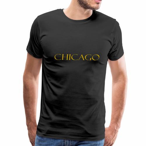 Chicago Gold Letter Design - Men's Premium T-Shirt