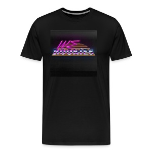 80s we Rookies T shirt design (rough backdrop) - Men's Premium T-Shirt