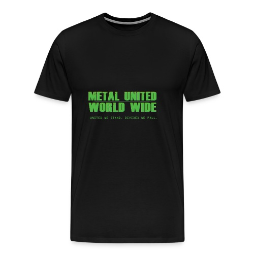 Metal United World Wide (green) - Men's Premium T-Shirt