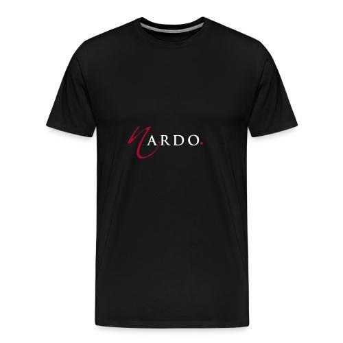 NardoLogoFinal Trans White Letters - Men's Premium T-Shirt
