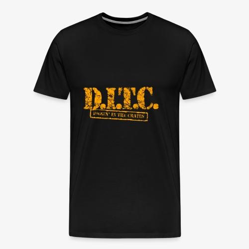 DIGGIN IN THE CRATES - Men's Premium T-Shirt