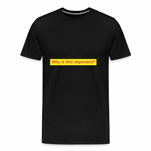 whyimportant - Men's Premium T-Shirt