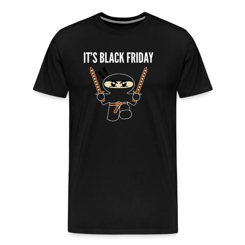 Black Friday Shopping Frenzy Ninja - Men's Premium T-Shirt