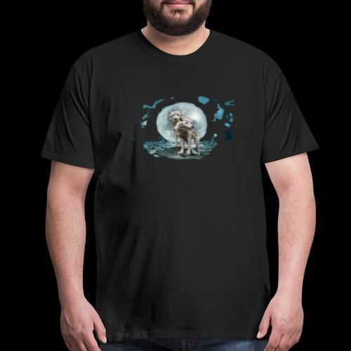 Wandering White Wolves - Men's Premium T-Shirt