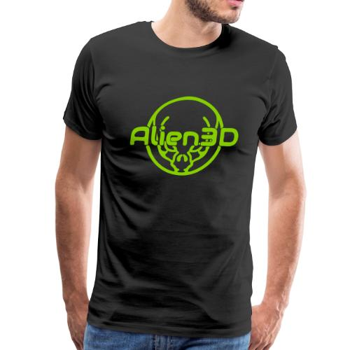 Alien3D Logo - Men's Premium T-Shirt