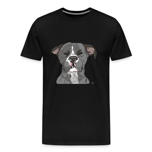 AmericanWoof - art by lloganbear - Men's Premium T-Shirt