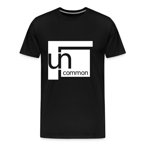 Uncommon logo BW - Men's Premium T-Shirt