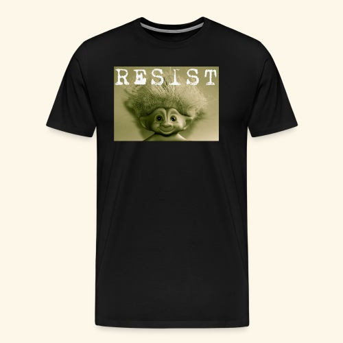 Warm Vintage RESIST the Troll - Men's Premium T-Shirt