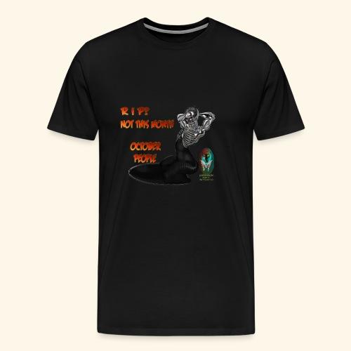 SKULL AND BONES METAL WOMAN - Men's Premium T-Shirt