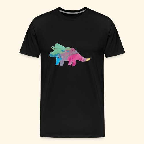 Triceratops color dinosaur - Men's Premium T-Shirt