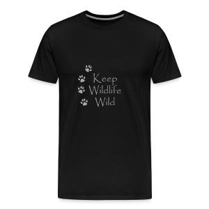 Keep Wildlife Wild - Men's Premium T-Shirt