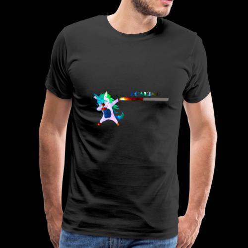 Dabbing unicorn still Loading - Men's Premium T-Shirt