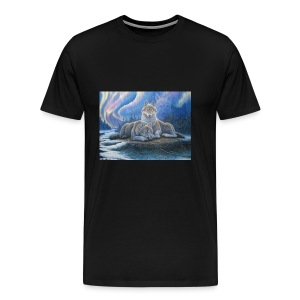 WOLVES OF THE NORTHERN LIGHTS - Men's Premium T-Shirt