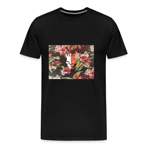 red & white evjay logo - Men's Premium T-Shirt