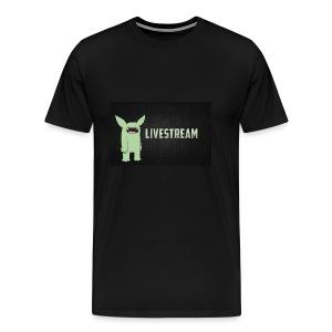 livve stream - Men's Premium T-Shirt