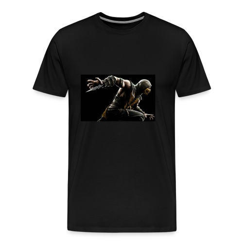mortal kombat x scorpion wide - Men's Premium T-Shirt