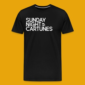 Sunday Night Cartunes Skull - Men's Premium T-Shirt